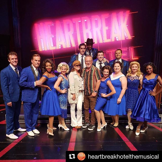 Thank you @Cubs Manager Joe Maddon for checking us out! @heartbreakhotelthemusical ⚾️ Now playing at the Broadway Playhouse! #broadwayinchicago #heartbreakhotelmusical #cubs #chicago #joemaddon