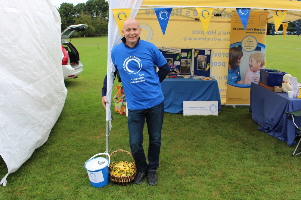 Mark Volunteering for St.Catherine's Hospice