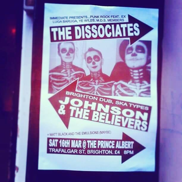 Brighton show flyer 2013. I think this was when we turned up without a drum kit... Don't forget to come to @diyspaceforlondon 28th March for our party with @sweetempirenl and others . . . . . #punk #punkrock #diyspaceforlondon