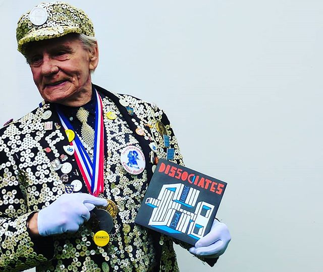 "This is George Major, the Pearly King of Peckham holding our first 7"" single we cut for Household Name Records. He features on the front cover of our album and our social profiles as created by @adamcreativemadam . He was a proper gentleman even though we stuck him in a NATO gas mask for ages while we shot the cover, after we finished he told me a filthy story about princess Margaret and drove off in his mini van. Last show tomorrow at @diyspaceforlondon x . . . . . . . . . . #pearlyking #georgemajor #pearlykingsandqueens #pearlykingofpeckham #cockney #cockneymuseum #seveninch #householdname #householdnamerecords #nato #gasmask #royalfamily #princessmargaret #peckham #londonhistory #punkband #punk #diyspaceforlondon #london #punkrock #punkrockbands"