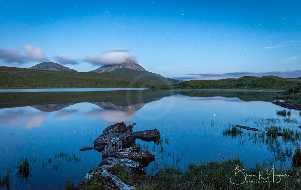 DL0024 Errigal by moonlight