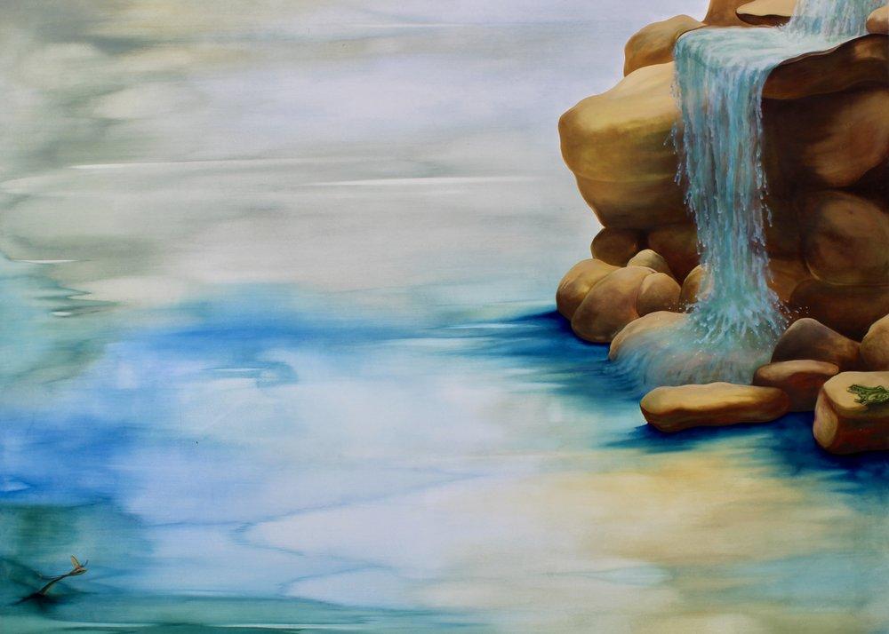 Waterfall -  2010 oil on canvas 160cm x 180cm