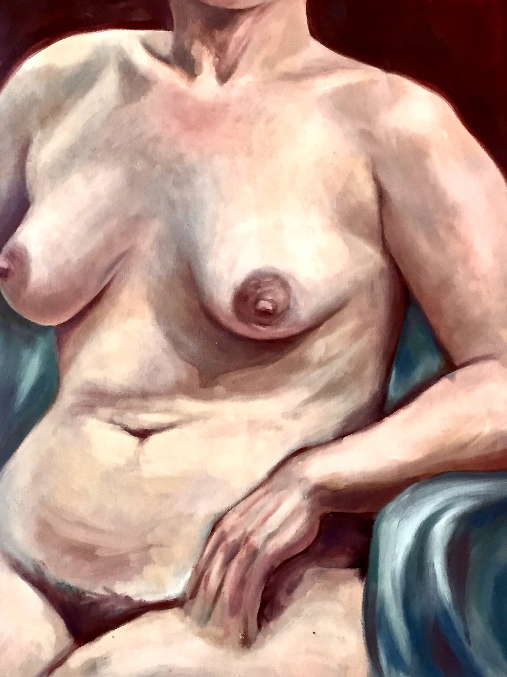 Vulnerable -  2001 oil on canvas 38cm x 51cm