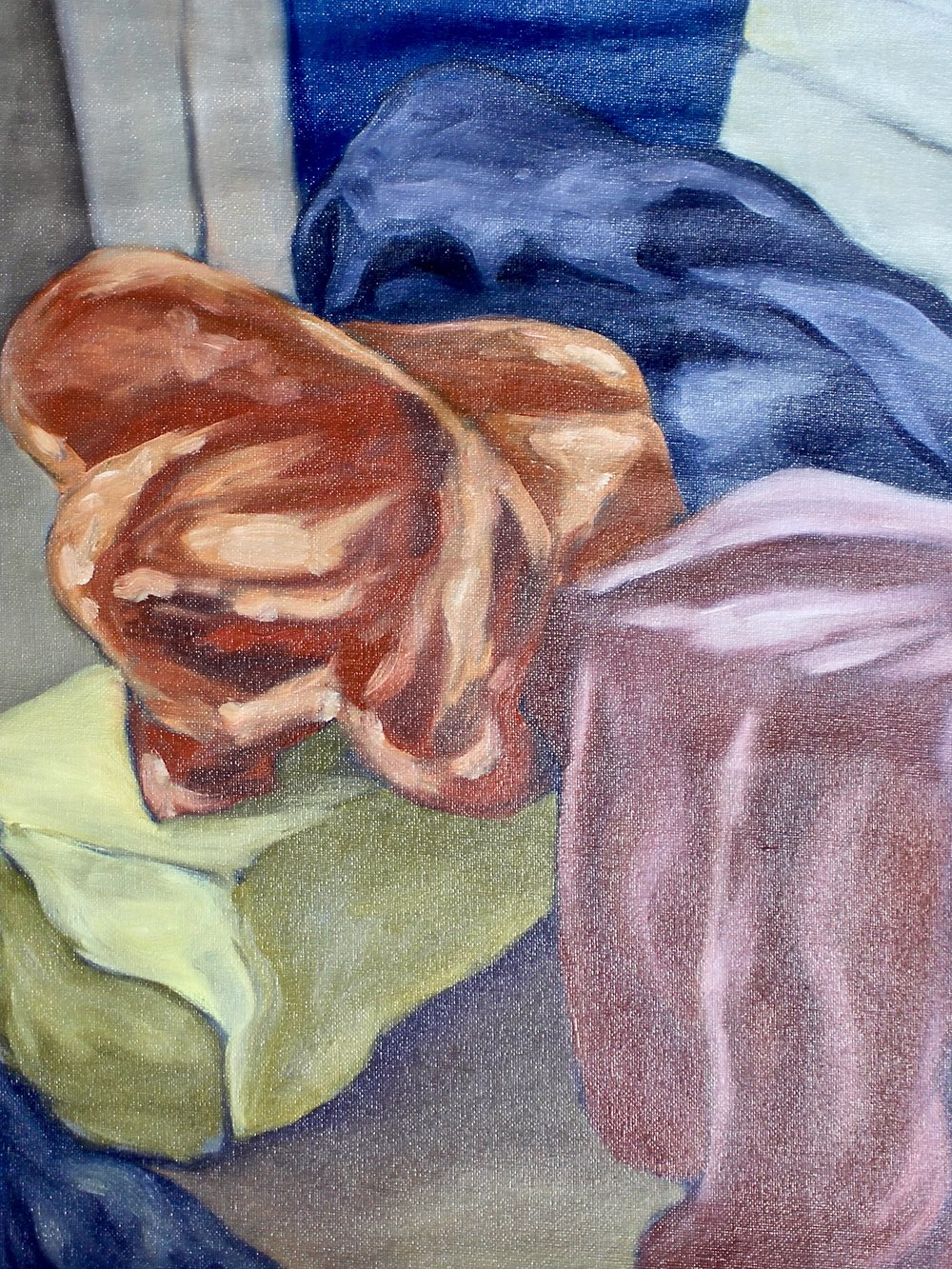 Fabric Study -  2006 oil on canvas 38cm x 51cm