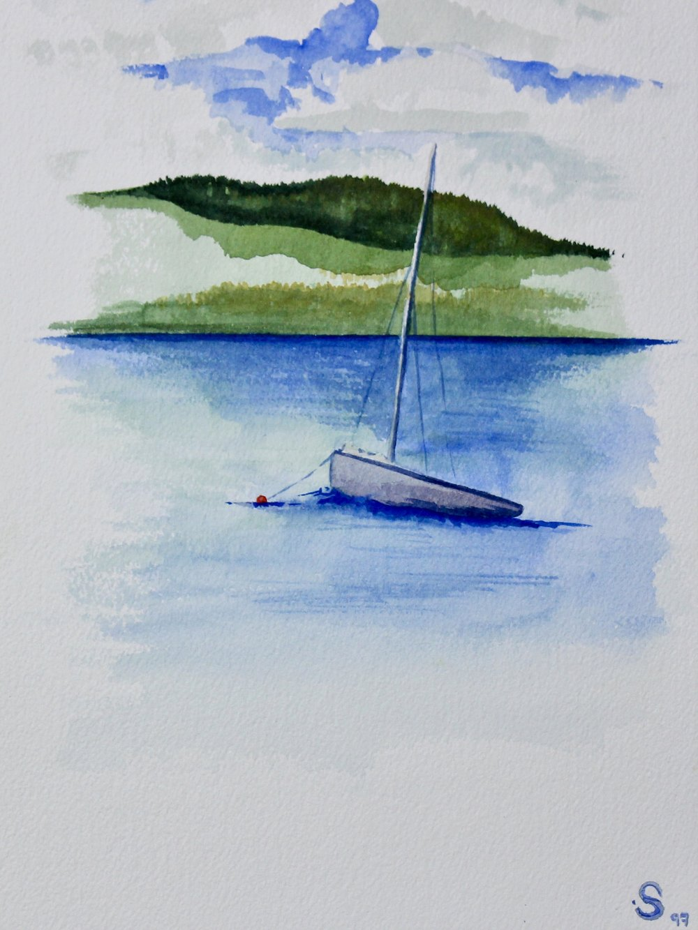 Loon Lake 1 -  2003 watercolour on paper 20cm x 26cm