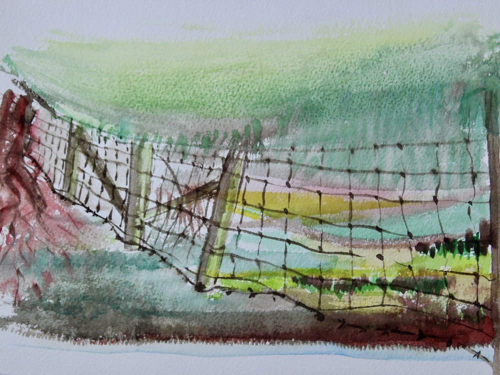 Mansfield 5 -  1999 watercolour on paper 20cm x 26cm