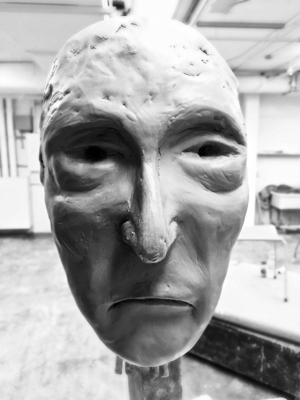 Gaelic Ghost -  2017 clay bust