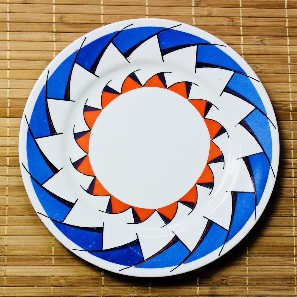 Aztek Plate -  1993 ceramic