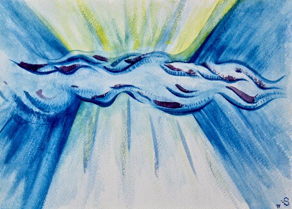 Rolling Sky -  2006 watercolour on paper 20cm x 26cm