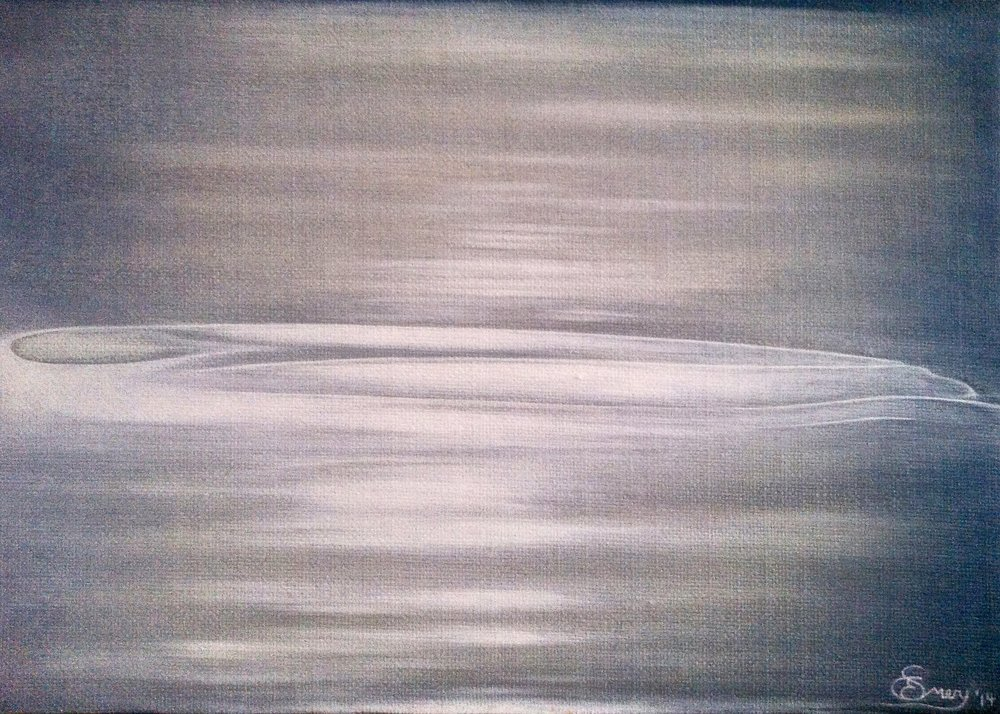 Under the Skin -  2015 oil on canvas 35cm x 50cm (sold)
