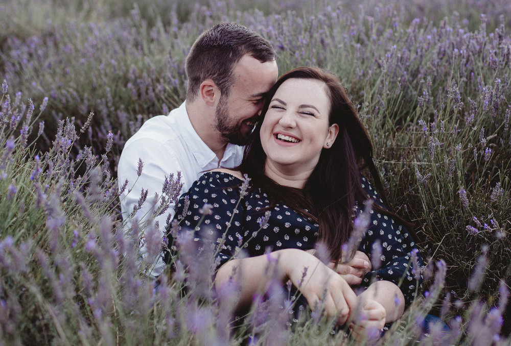 Hitchin Lavender Field Engagement shoot - Louise & Alex