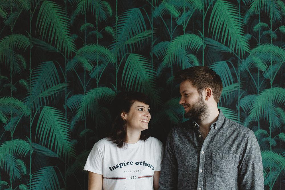 Funky Interiors Home Engagement Shoot -Emily & Edd -