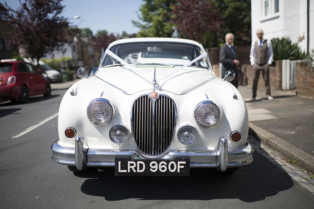 Wedding car  Sophie Lake Photography