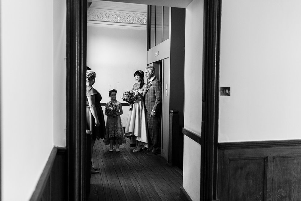 Bride and family before ceremony Sophie Lake Photography