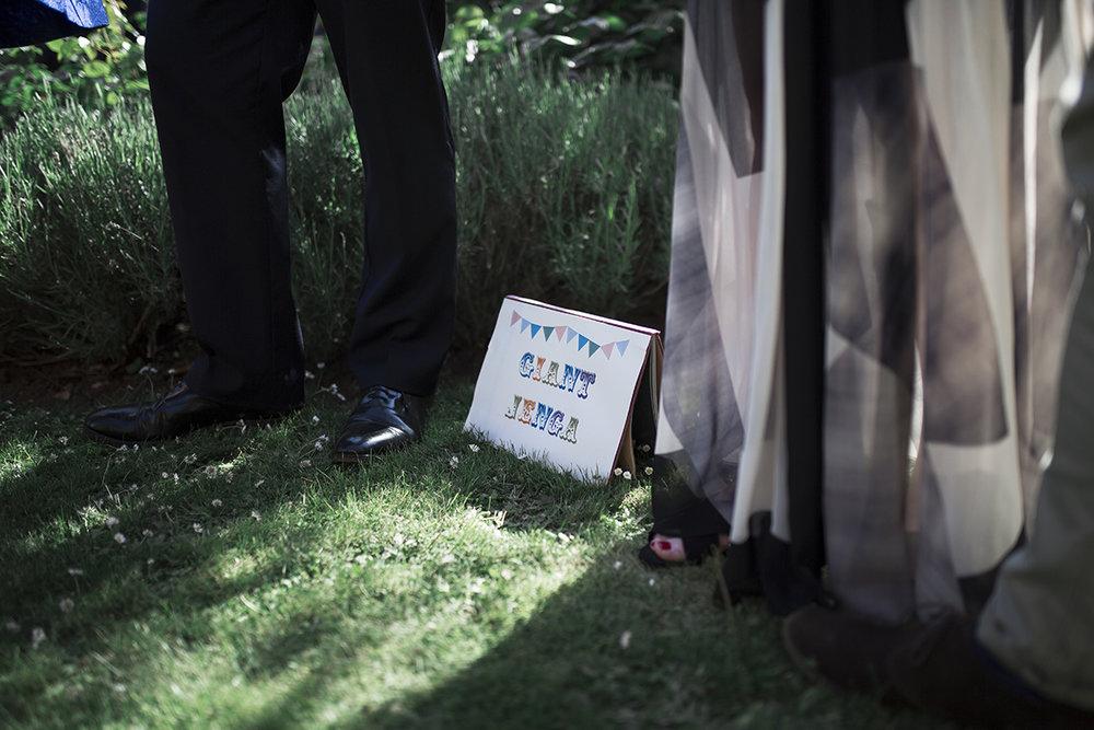 Giant Jenga Wedding Sophie Lake Photography