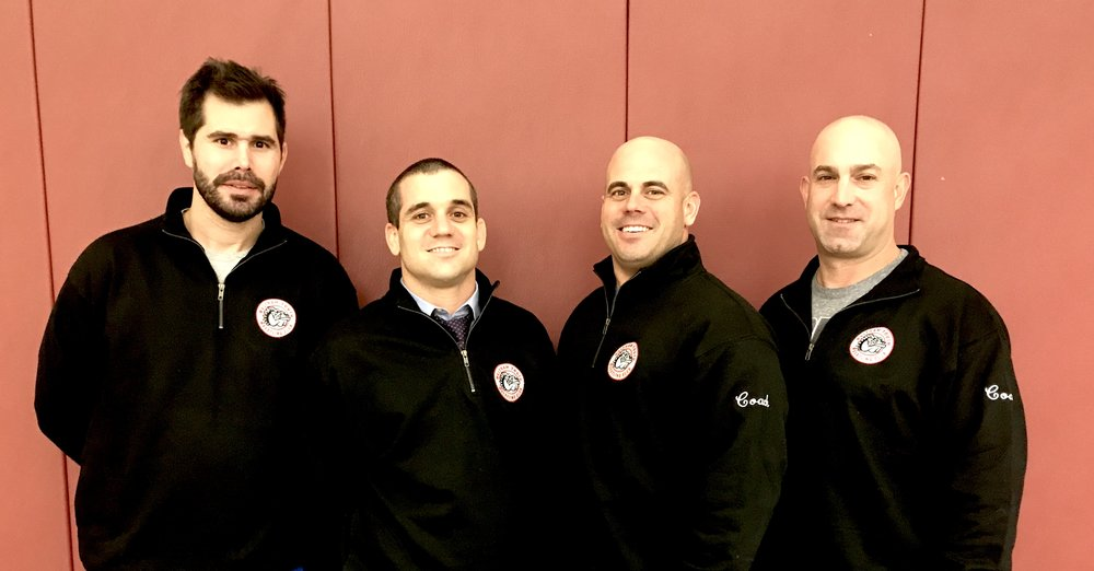 Our Coaches Gus Mancini, Jimmy Collins, Mike Collins and Joe Recine