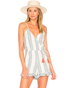 AMELIA ROMPER - The linen-like material is great. I ordered a M to have a more relaxed-fit. Very cute on!