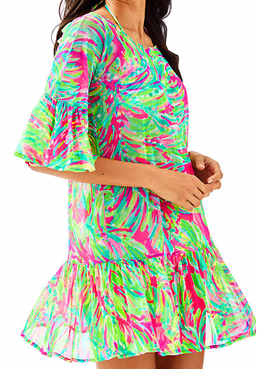 ALFRESCO COVER-UP - What's pink & green & cute all over? This fun cover-up!
