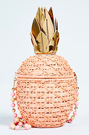 SERPUI MARIE PINEAPPLE WICKER CLUTCH  - Pina-awesome! If you know me, then you know I LOVE pineapples. This is one of my favorites because of its uniqueness & sweetness!