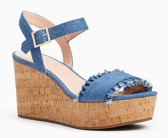 TOMAS SANDALS - Loving this wedge + denim combo!Feminine & easy to dress up or down.