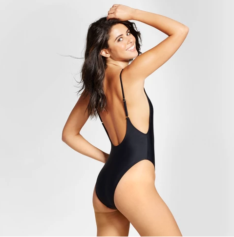 High Leg Scoop One-Piece