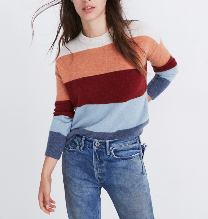Madewell Crofton Striped Pullover