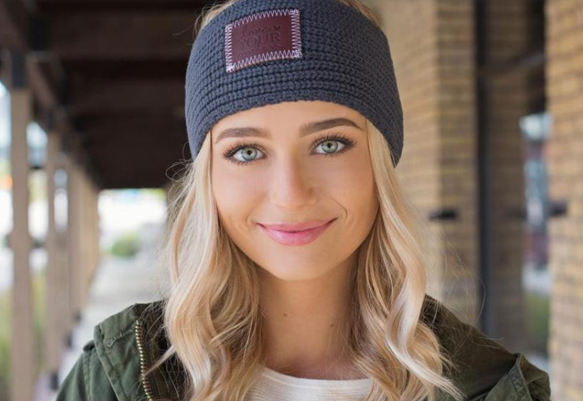 Love Your Melon Dark Charcoal Knit Headband