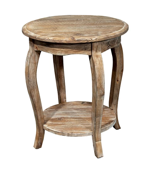 Driftwood Round End Table