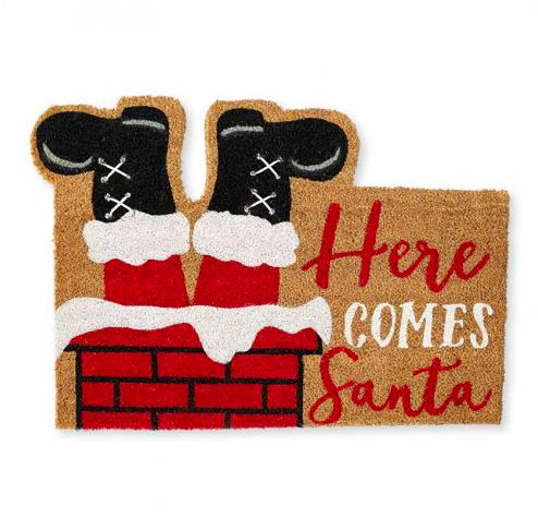 Here Comes Santa Doormat