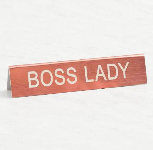 Boss Lady Desk Sign