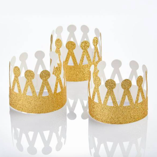 Mini Gold Party Crowns