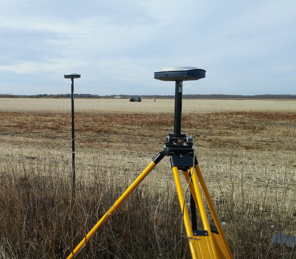 gps base station on agriculture drone survey