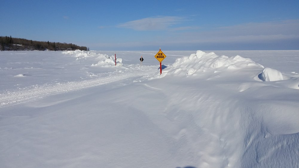 Ridges pose as barriers to travel and are collision hazards in winter and pose an early immersion risk in spring