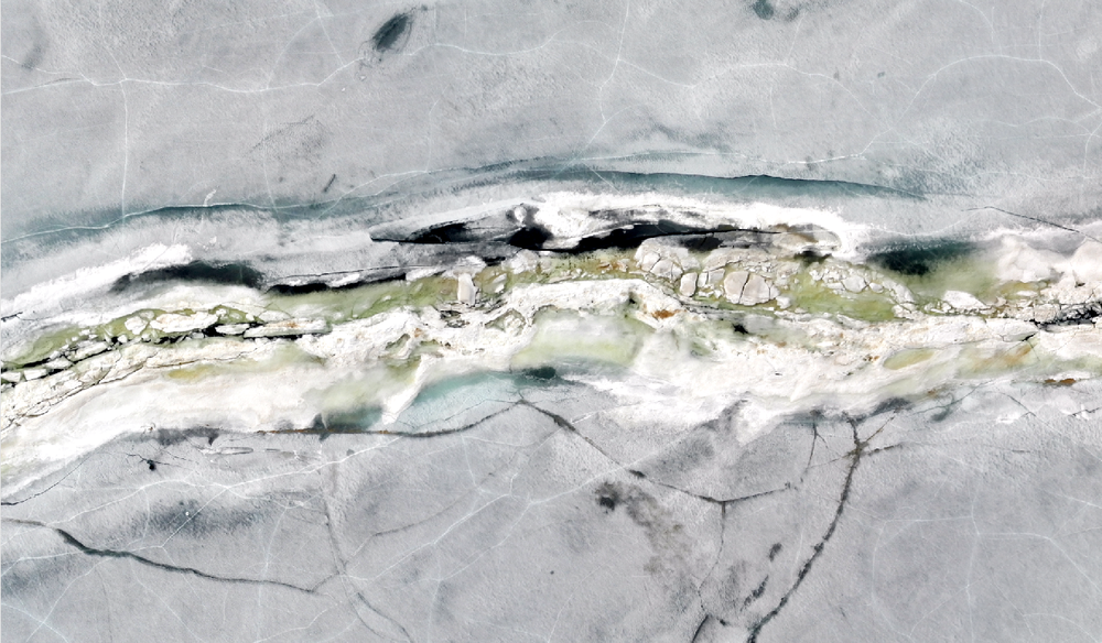 April 28, 2018 - ridge mostly collapsed and sails floating. Fixed wing drone data collected during Accelerated Melt Period.