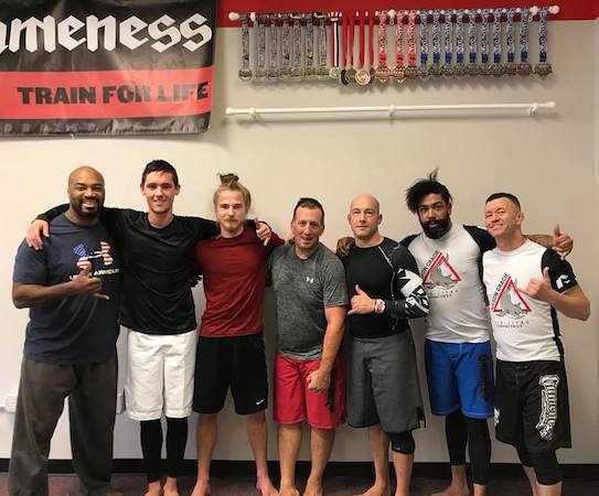 Thomas, second from left, after no-gi training on November 24th.