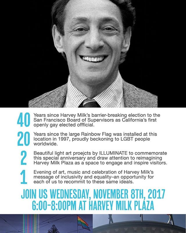 Join us November 8th at 6pm at Harvey Milk Plaza! #HonorHarveyMilk