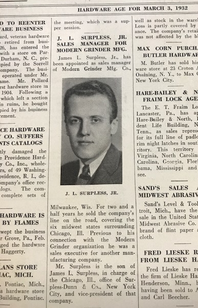 Newspaper article James L Surpless Jr 1932.jpg