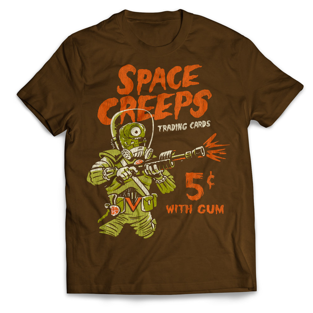 Space Creeps 5 ₵With Gum T-shirt - Get it on Amazon.com