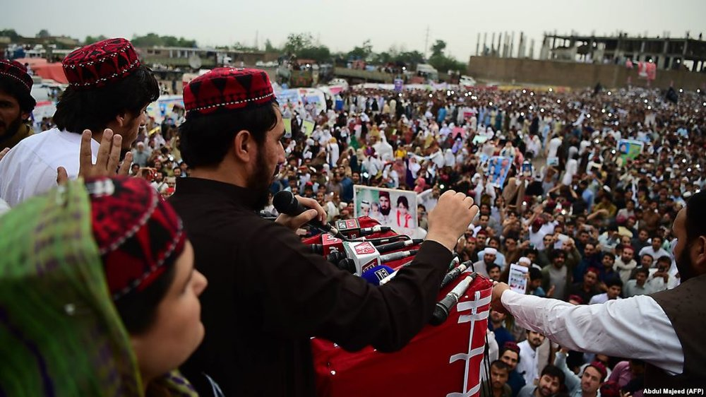The Pashtun Tahafuz Movement (PTM) drew thousands to the streets of major cities across Pakistan in 2018 to protest enforced disappearances and harassment by security agencies. The movement took off after the police murdered    Naqeebullah   , an aspiring model from FATA. Image:    BBC