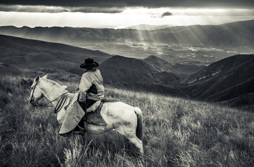 Antonio on Mount Creston with Condor Valley behind