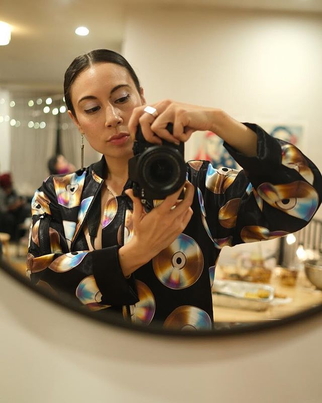 Here's our crazysexycool photog Chanel checking herself out in the mirror 💛 We adore her and are forever grateful for her work, perspective and vision! Follow @queengidrea for the most sensual plant photography you've ever seen, beautiful self portraits and eclectic art. #wcw