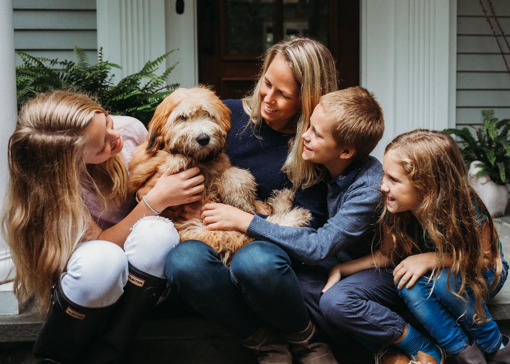 Wayland at-home family photo session | Wayland Family Photographer