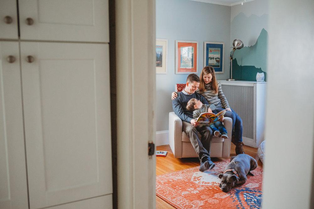 In-home family photos in Melrose, Massachusetts