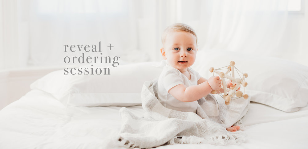 Reveal and ordering session information for Boston family photography with Joy LeDuc