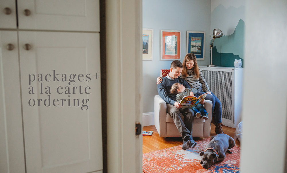 Packages and a la carte ordering options for Boston family photographer Joy LeDuc