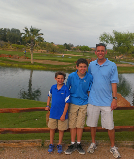 me and the boys at silverado golf club
