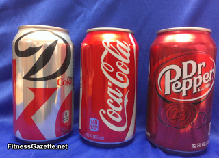 cans of dr pepper, coke, and diet coke