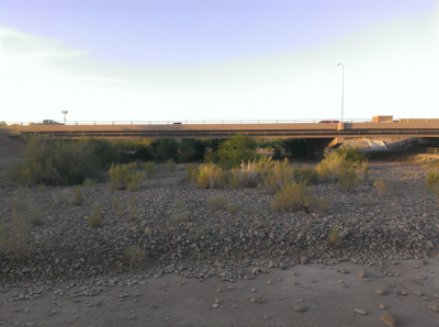 a desert washes passes under deer valley road in peoria az