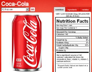 coke nutrition label