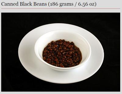 black beans - 200 calories